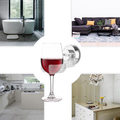 ABEDOE Suction Cup Wine Holder Storage Beer Rack Stand Bath Shower Wine Drinking Goblet Sucker Rack Home Organizer Supplies