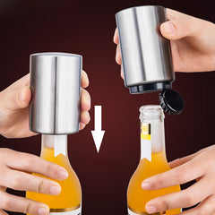 Portable Magnetic Automatic Bottle Opener Stainless Steel Push Down Wine Beer Openers 2018ing