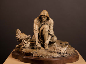 His Gathering Bronze Sculpture