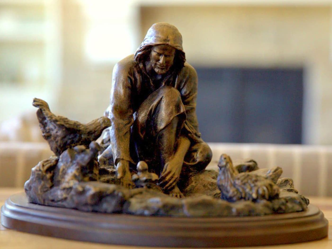 """His Gathering"" Small Bronze Sculpture"