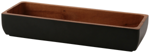 WOODEN Rect Cutlery Case Black - weare-francfranc