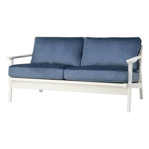 SARTO Sofa 2 Seat Fabric Blue x White (A) - weare-francfranc