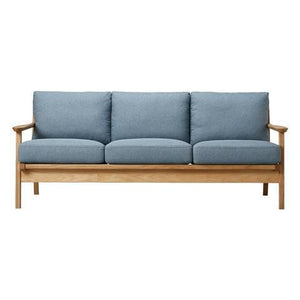 SARTO Sofa 3 Seat Fabric Blue x Natural (A) - weare-francfranc