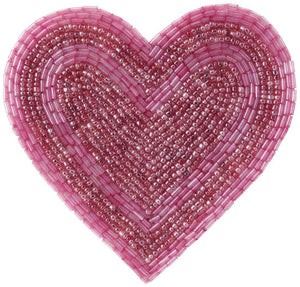 AUSA Heart Beads Coaster Dark Pink - weare-francfranc