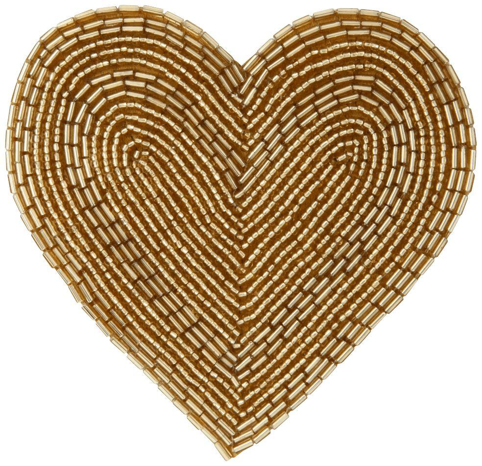 AUSA Heart Beads Coaster Gold - weare-francfranc