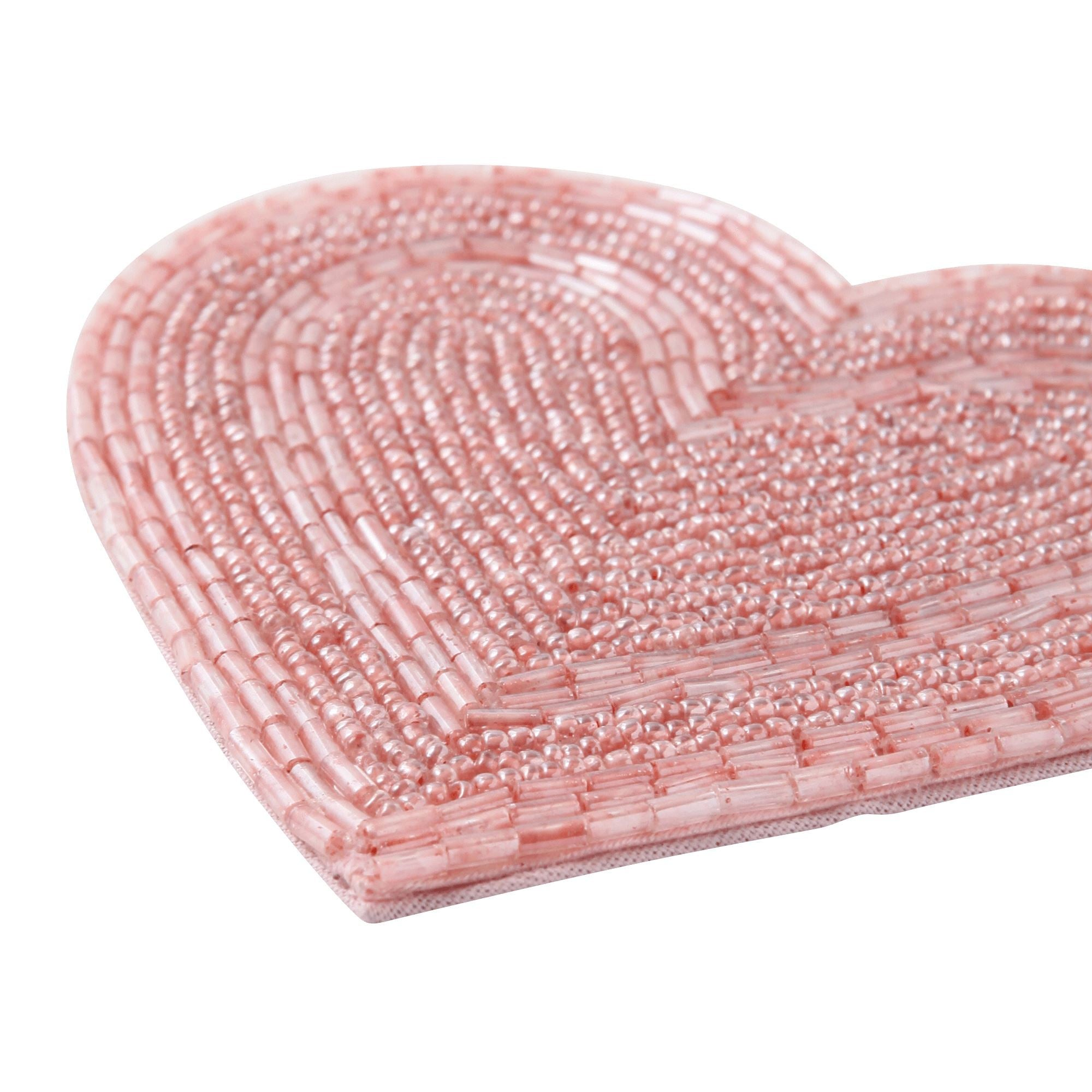 AUSA Heart Beads Coaster Light Pink - weare-francfranc