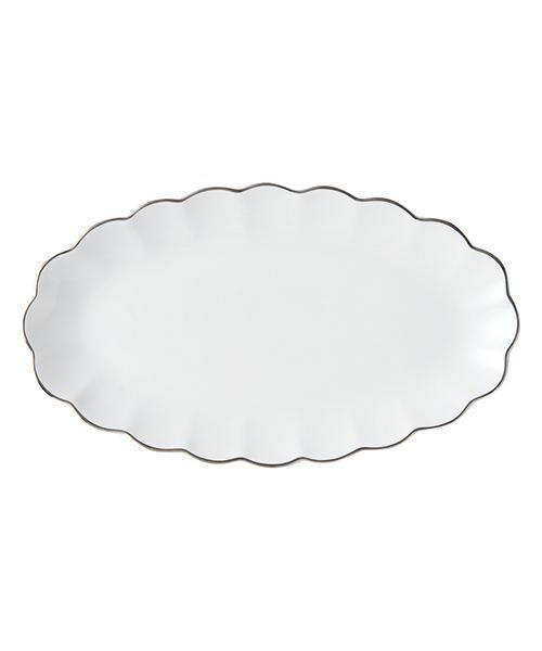 BLANC Plate Oval Small White - weare-francfranc
