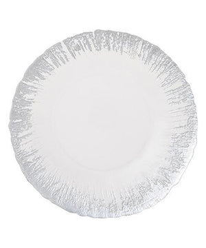 FLASH Glass Plate Medium Silver - weare-francfranc