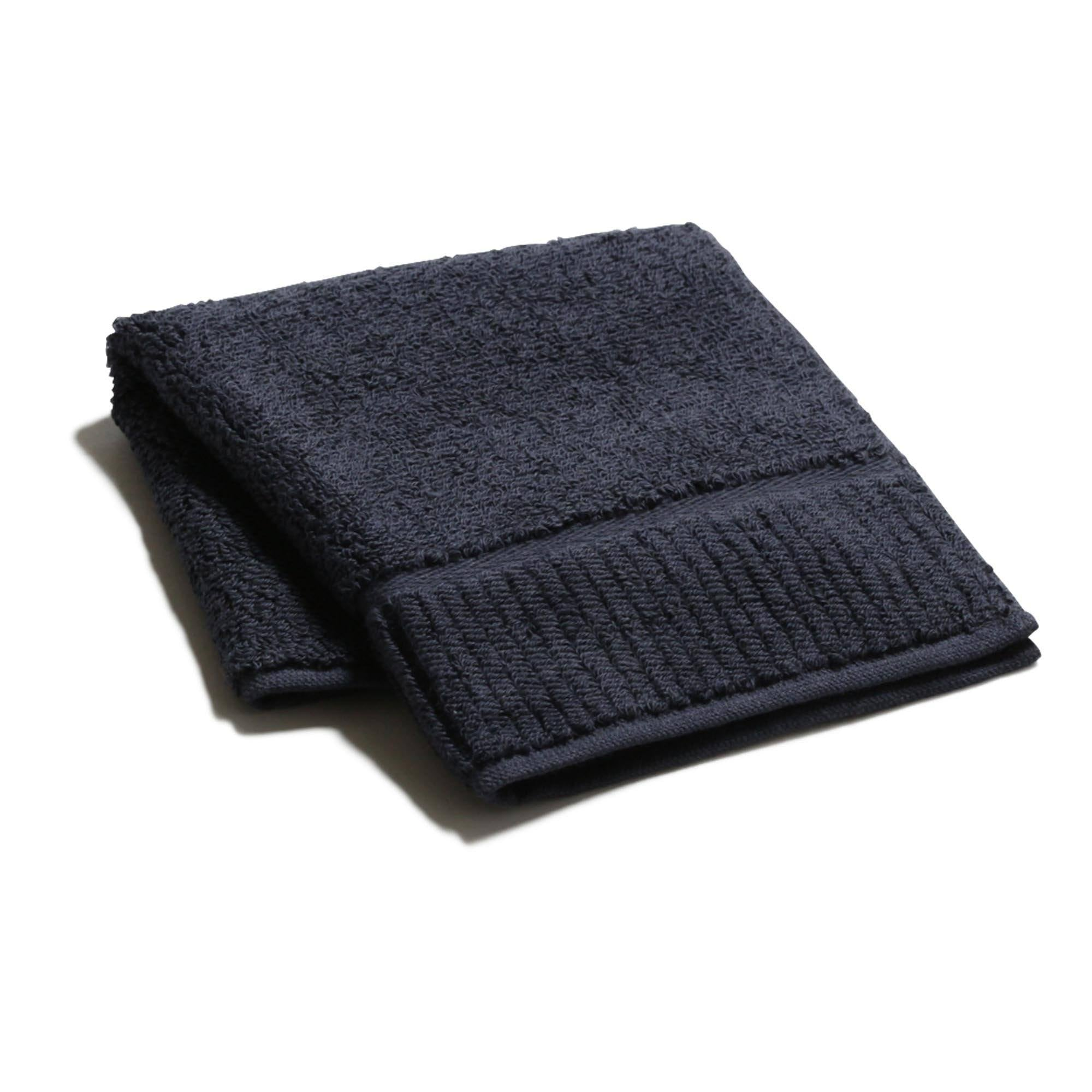 Imabari Wind Organic Face Towel Navy - weare-francfranc