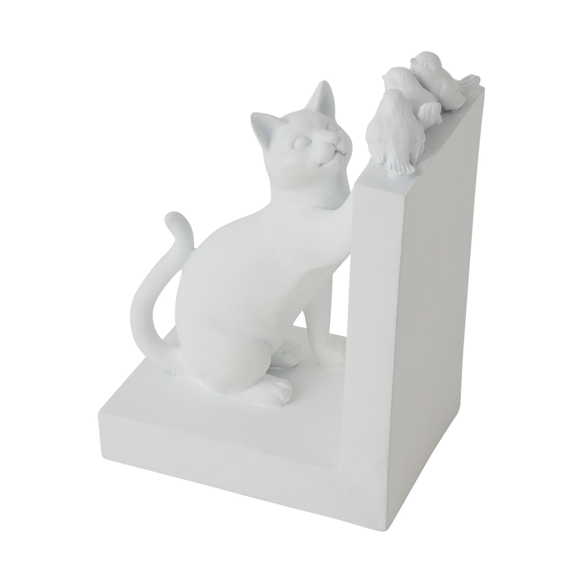 MIGNON Bookend Cat & Bird White - weare-francfranc