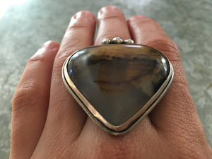 Montana Agate Statement Ring
