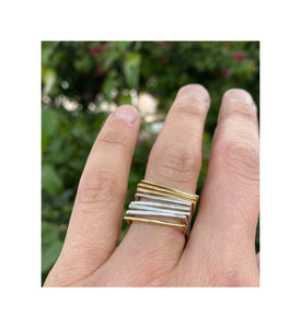 Skinny Square Stacker Rings
