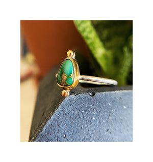 Turquoise and 14k Gold Ring - Made to order