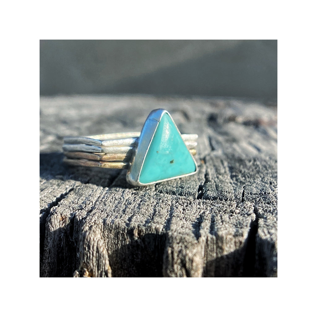 Turquoise Triangle on a Square Band