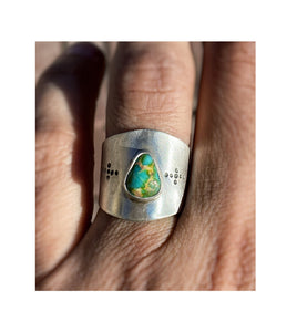 Turquoise Saddle Ring