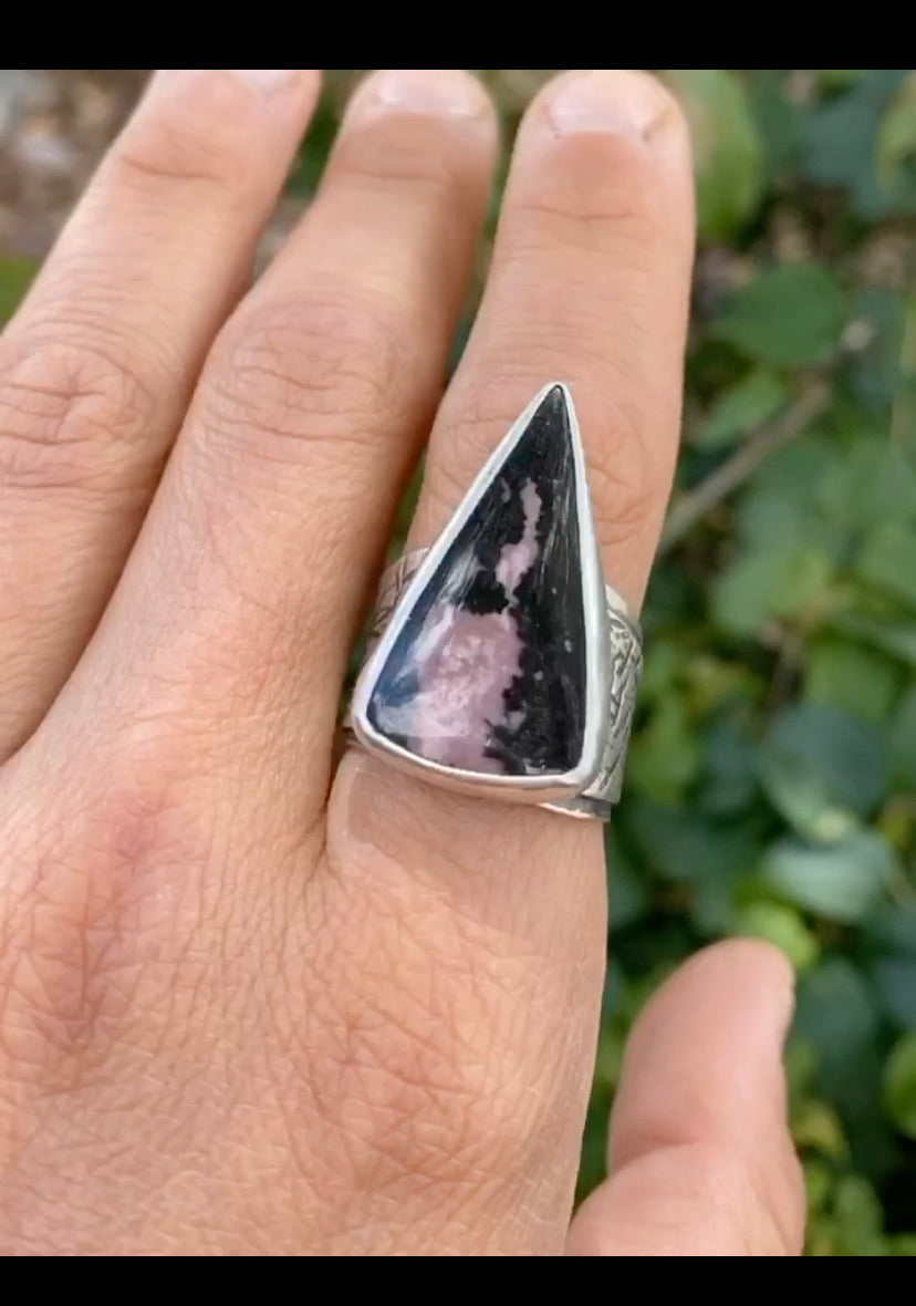 Rhodonite Talon Ring