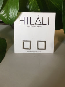 Square Sterling Studs