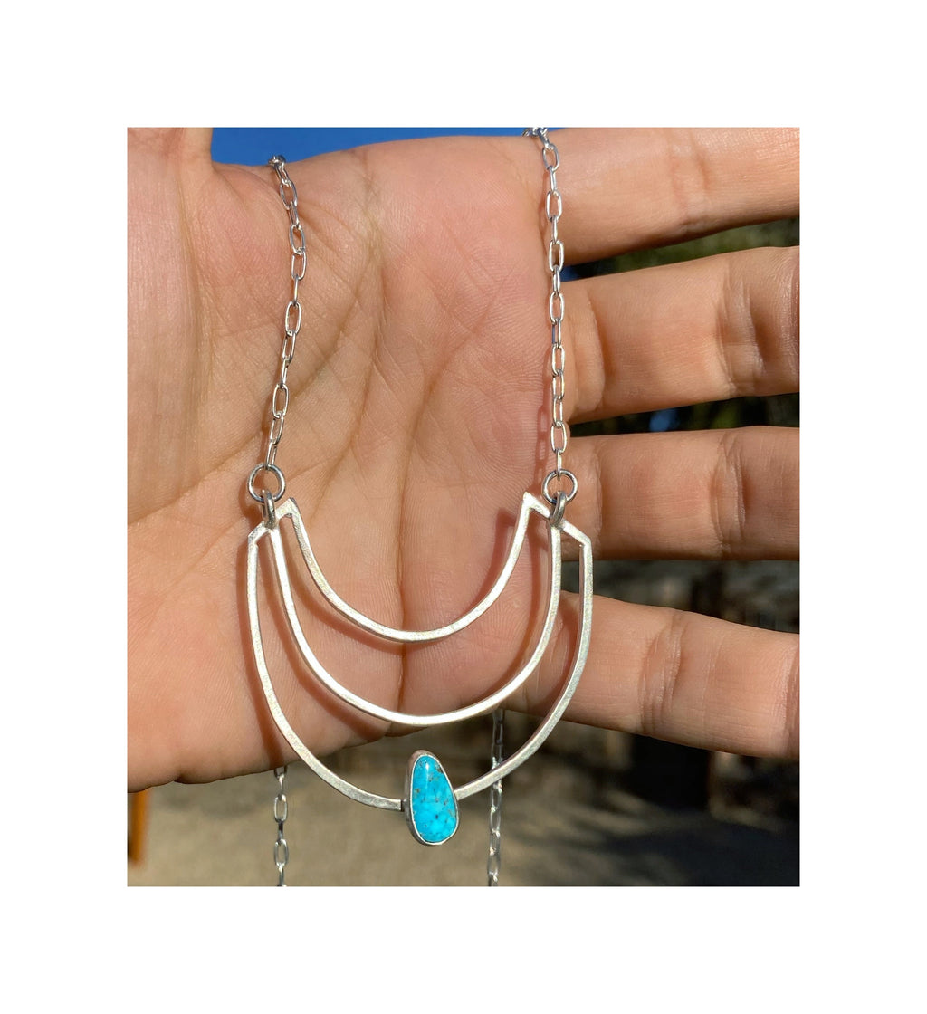 Long Aria Necklace with Turquoise