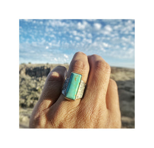 Baja Turquoise Rectangle Ring