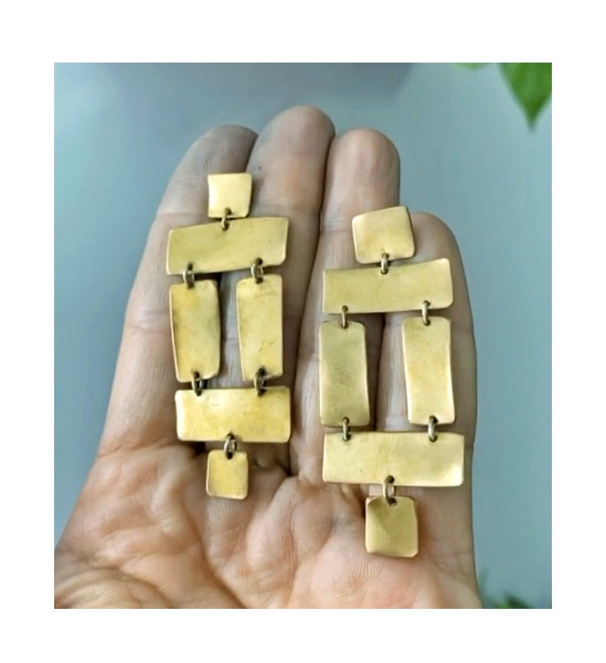 Jenga Earrings