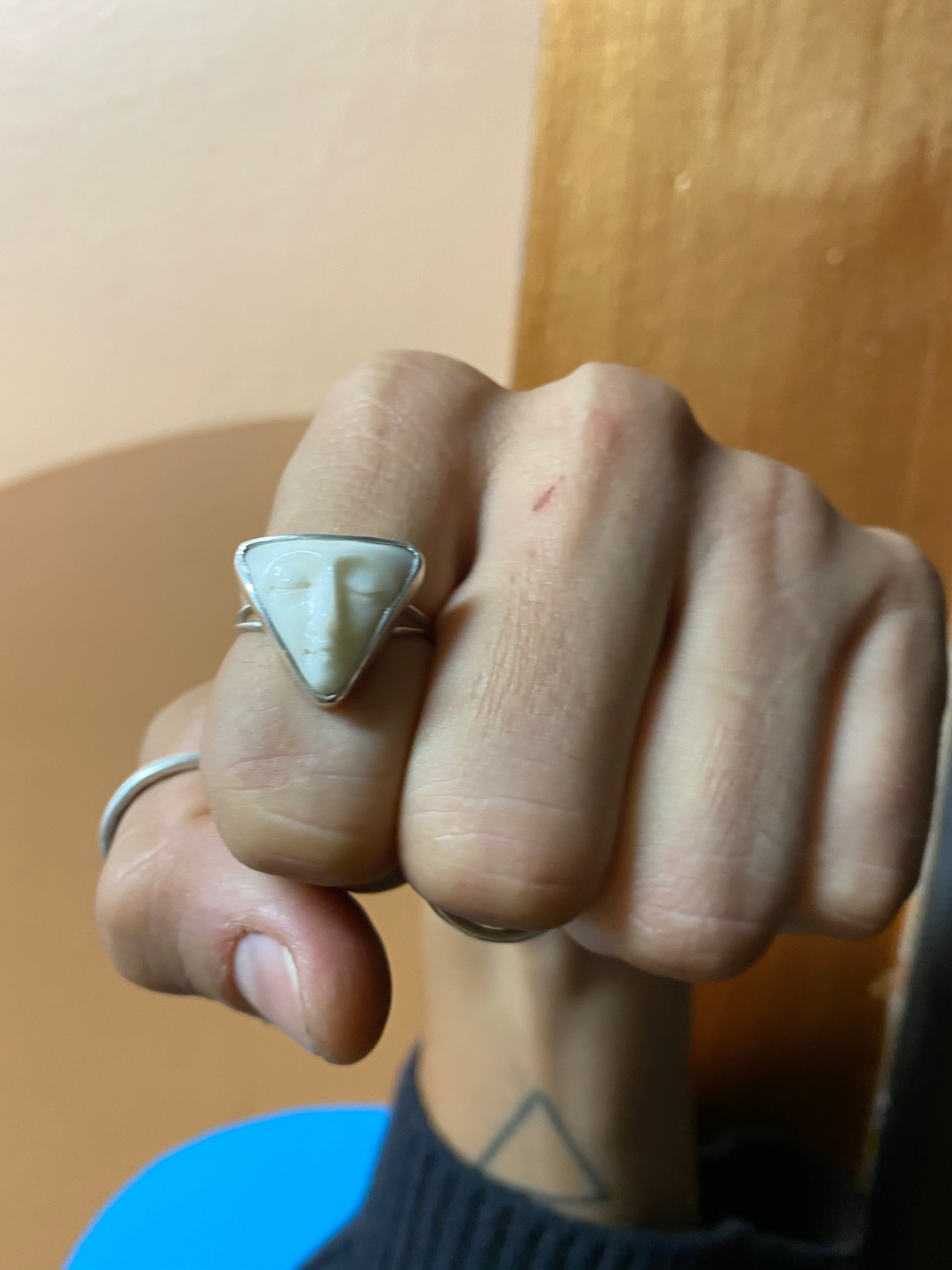 Moon Face Rings