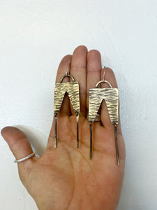 Brass Trouser Earrings