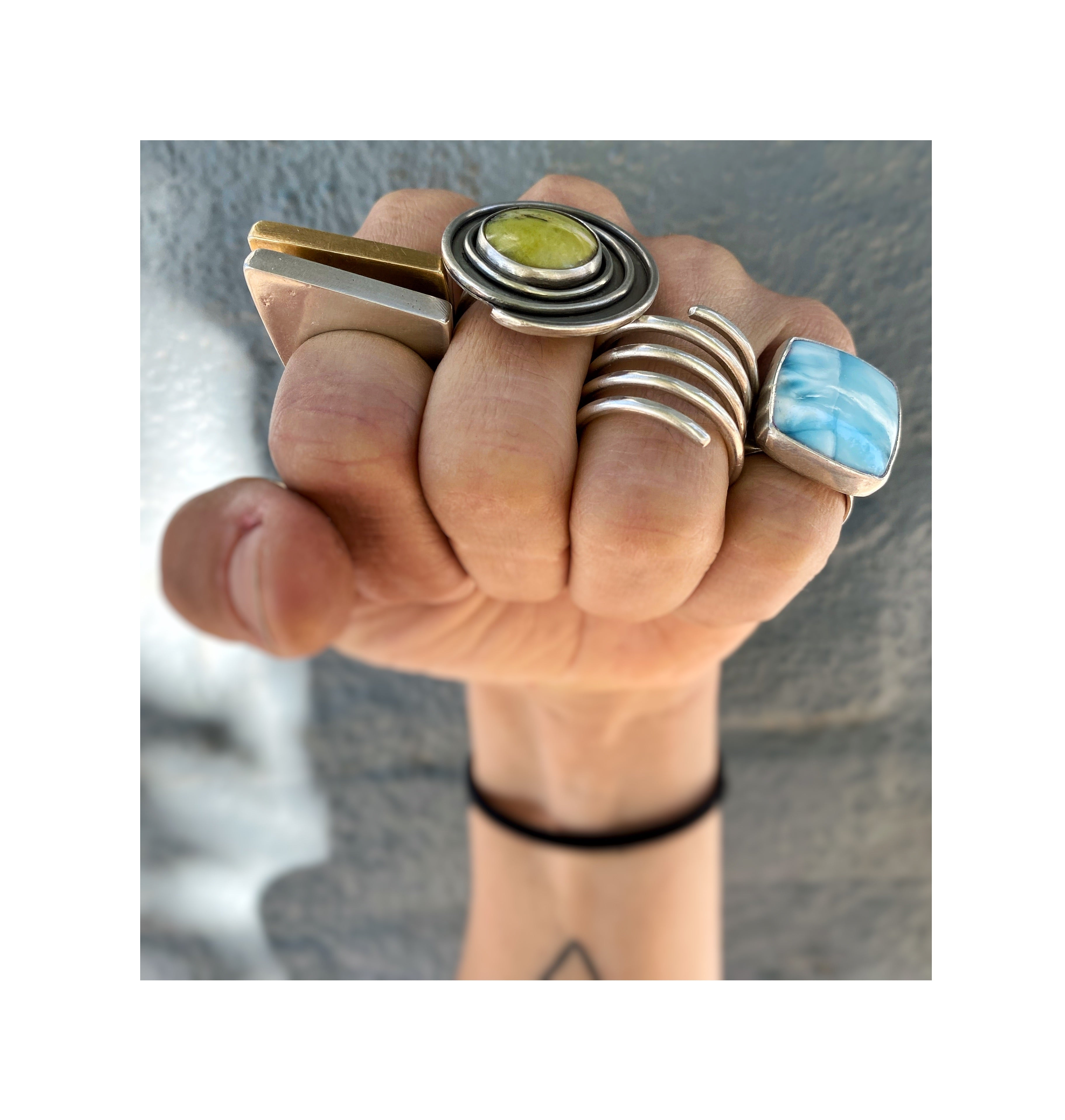 Serpentine Spiral Ring