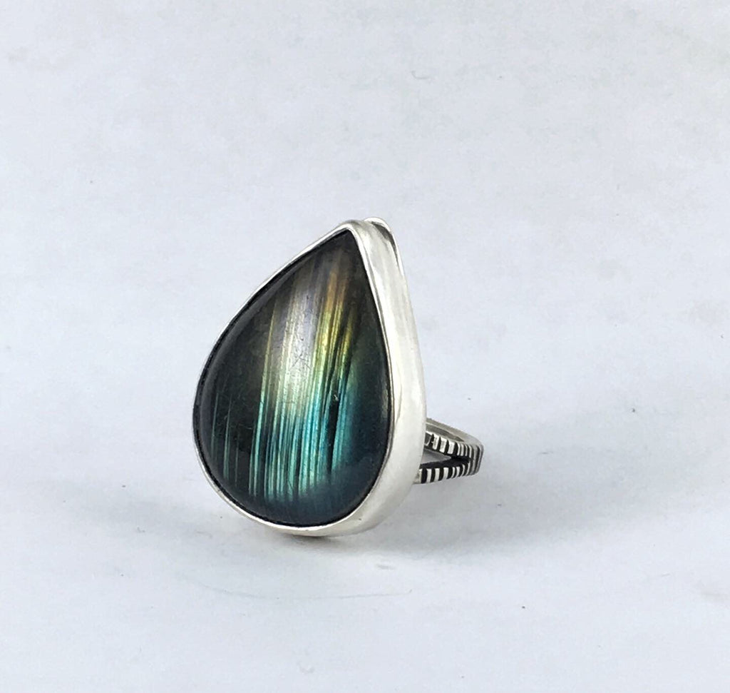 Striped Labradorite Ring