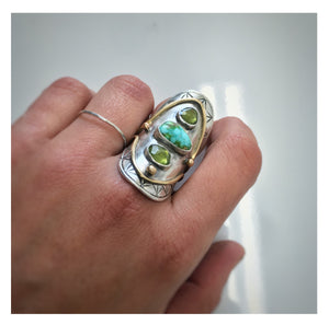 Boho Saddle Ring