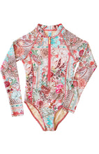 Load image into Gallery viewer, Ellenny Swim Girls Long Sleeve Sun Suit Wildflowers Flatlay