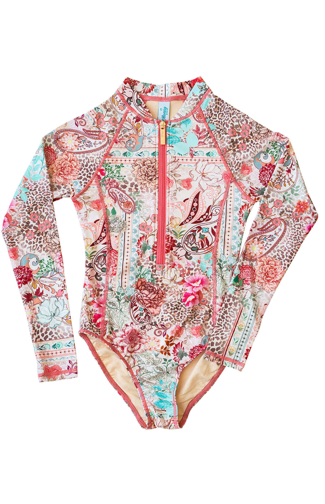 Ellenny Swim Girls Long Sleeve Sun Suit Wildflowers Flatlay