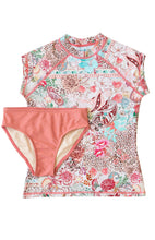 Load image into Gallery viewer, Ellenny Swim Girls Short Sleeve Sun Set Wildflowers