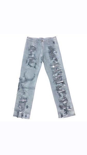 """Heaven sent"" Distressed Jeans"