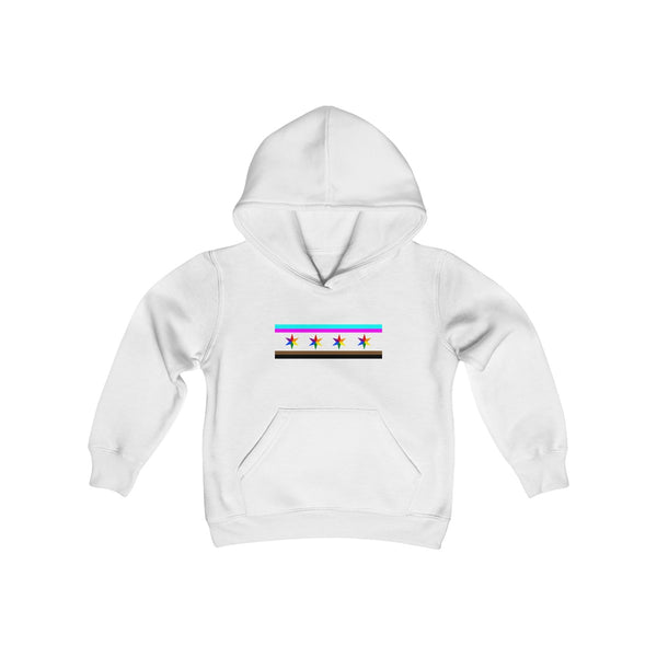 Chicago pride Youth Heavy Blend Hooded Sweatshirt