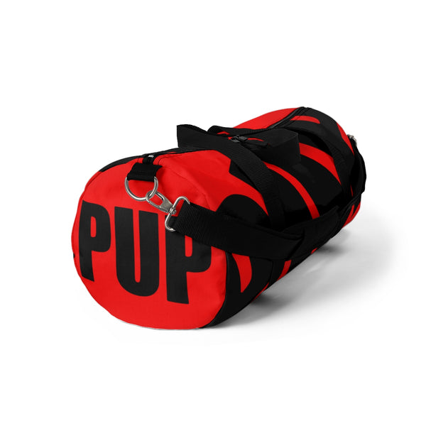 PUP custom Duffle Bag over sized black on red graphic