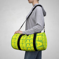 """be bear"" Duffle / gym Bag (yellow and green yellow graphic)"