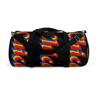 Chicago pride Duffle Bag rainbow print.
