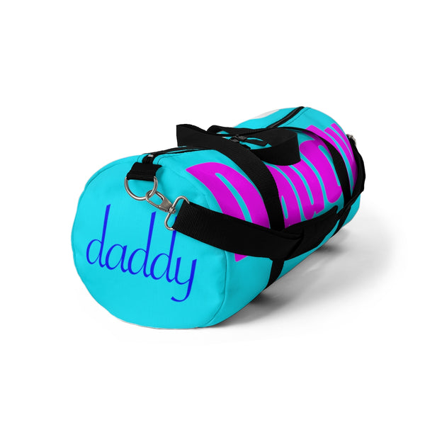 custom daddy Duffle Bag multi color - pink, blue, white