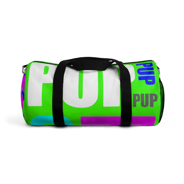 custom all over print pup multi color on neon green