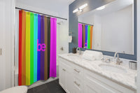 series be Shower Curtains rainbow with pink be