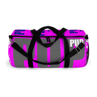 custom all over multi color pup and puppy on bright magenta Duffle Bag