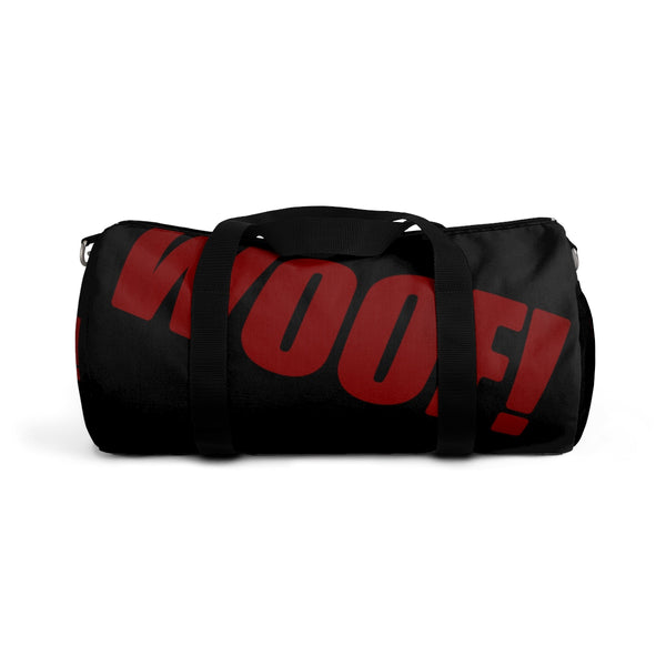 custom woof Duffle Bag red and black