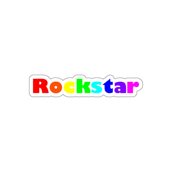 Rockstar Kiss-Cut Stickers available in 4 sizes