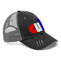 embroidered cub Unisex Trucker Hat red white and blue