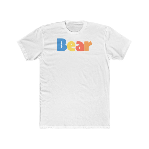 """summer bear"" premium Men's Cotton Crew Tee up to 4XL"