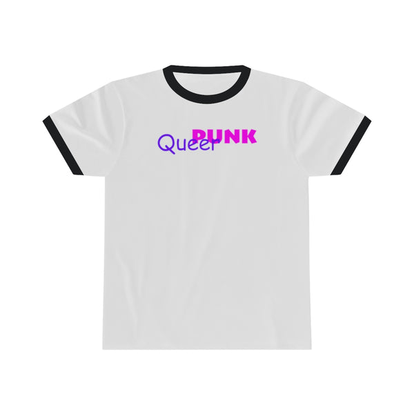 queer punk all gender Ringer Tee up to 4XL