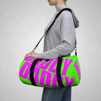 custom daddy Duffle Bag magenta and neon green