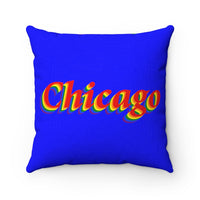 Chicago pride Spun Polyester Square Pillow rainbow print.