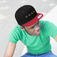 Chicago Pride 4 star all gender Flat Bill Hat