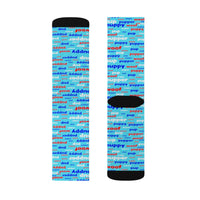 Copy of Copy of pup puppy pupper woof Sublimation Socks red white blue and light blue